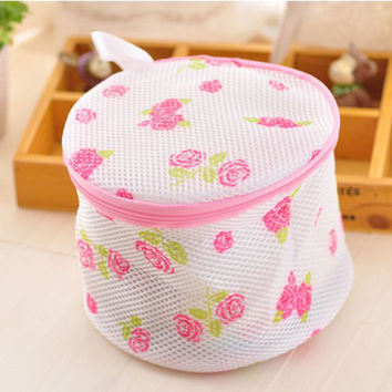 New Necessaire Women Hosiery Bra Washing Lingerie Wash Foldable Protecting Mesh Bag Aid Laundry Saver