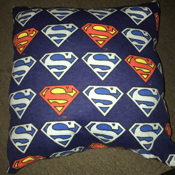 12x12 decorative fleece superman pillow