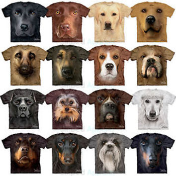 The Mountain Big Dog Face T-Shirts S-3XL Black Lab Beagle Bulldog Pit Bull Boxer