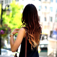 """24"""" Vibrant Ombre Clip In Hair Extensions -100g- 100% Human Hair"""