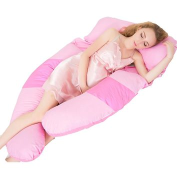 Sleeping Support Pillow For Pregnant Women Body Comfort Full Body Contour Pregnancy U Pillow Pregnancy Side Sleepers Bedding HR