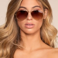 Cruise Aviator Sunglasses - Brown