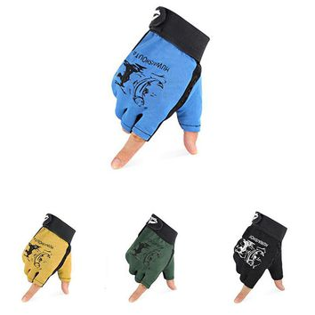 1 Pair 3 Half Finger Fishing Gloves Skidproof Resistant Half Finger Cycling Fishing Anti-Slip Tool for Fishing Tackle Boxes New