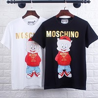 MOSCHINO Hot Sale Fashion Pig Print Comfortable T-Shirt Top Blouse