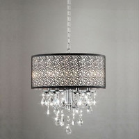 Crystal Chandelier Light Fixtures Ceiling Lighting Contemporary 4 Lights Chrome