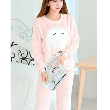 Flannel Fleece Winter animal design Women Pajama Sets Pajamas Pijama Pyjama Women Feminino Pijama Mujer Pijamas Entero Pyjamas