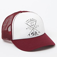 Billabong Burgundy Pit Stop Trucker Hat - Womens Hat - Red - One