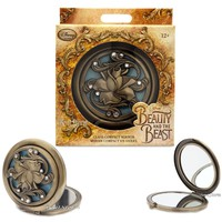 Licensed cool Beauty and the Beast Live Action Film Glass Compact Mirror Disney Store EXC. NEW