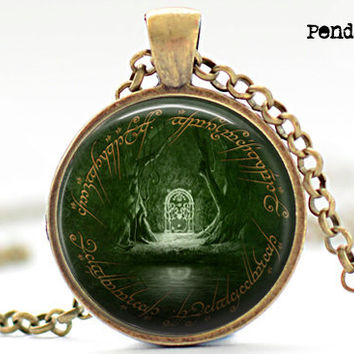 LOTR Pendant, Door off Moria Pendant, lord of the rings pendant,necklace jewelry door of to moria, lord of the ring charm, charm,movie charm