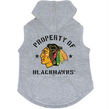 DCCKT9W Chicago Blackhawks Pet Hoodie Sweatshirt