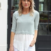 Striped Top With Layer-Augustine Striped Top-$65.00 | Hand In Pocket Boutique