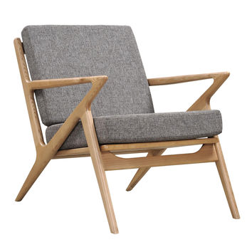 Jet Accent Chair Natural Wood Finish CHOICE OF COLORS