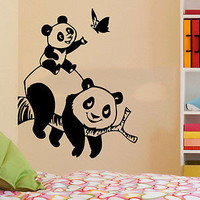 Panda Bear Wall Decals Animals Vinyl Sticker Living Room Decor Baby Kids C547