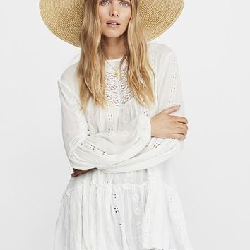 Free People - White Kiss Kiss Tunic