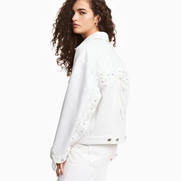 H&M Denim Jacket with Lacing $69.99