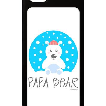Matching Polar Bear Family - Papa Bear iPhone 5 / 5S Grip Case  by TooLoud