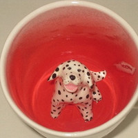 Dalmation Surprise Mug by SpademanPottery on Etsy