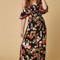 Selfie Leslie Off-The-Shoulder Ruffle Maxi Dress at PacSun.com