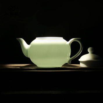 280ML Handmade Ceramic teapot,Chinese JingdezhenTea pot CelatonTea kettle Premiu