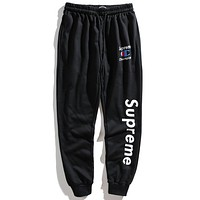 Supreme x Champion  Fashion Edgy Simple Pants Trousers Sweatpants