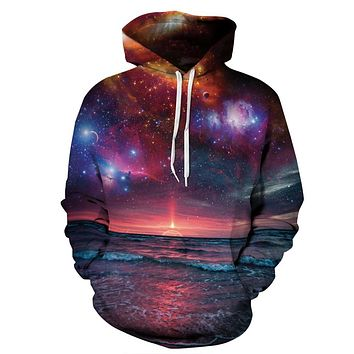 Hoodies Space Galaxy Sweatshirt 3D Hoodie New Coat Casual Streetwear Fashion Hat Sweatshirt Men Women Brand Clothing 2017