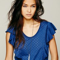 Free People We The Free Spot Ruffle Tee