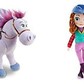 Disney Sofia the First Minimus Plush 14 Inch and Sofia the First Equestrian 13 Inch Plush Doll Set