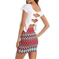 Triple Bow Back Crop Top: Charlotte Russe