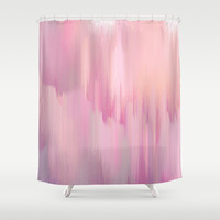 Lush Pink Shower Curtain by Printapix