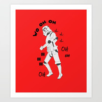 All the single stormtroopers Art Print by Estef Azevedo
