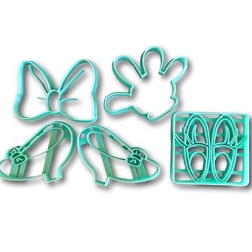 Girl Mouse Cookie Cutters (Set of 5)