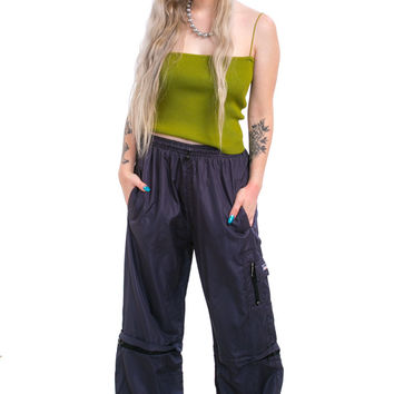 Vintage Y2K Convertible Cyber Attack Baggies - XS/S/M