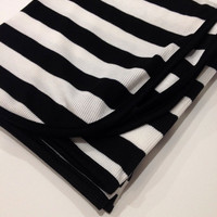 ON SALE-Newborn Baby Girl Boy Gender Neutral Black/White Stripe Swaddle Blanket