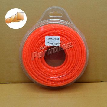 "0.120"" Grass Trimmer Line 3.0mm Diameter 0.5LB(40M) Twist Square for Brush Cutter Power Nylon Line Grass Cutting"