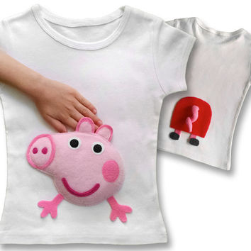 peppa pig shirt, peppa pig birthday outfit, peppa pig birthday shirt, peppa pig, peppa pig party, girl toddler, toddler clothes, baby girl