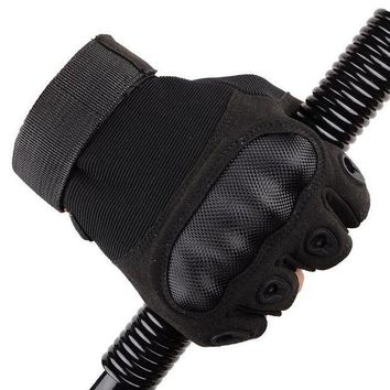 CREYLD1 Tactical Fingerless Gloves Military Armed Combat Paintball Airsoft Shooting Anti-Skid Carbon Knuckle Half Finger Gloves