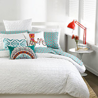 Bar III Box Pleat White Bedding Collection