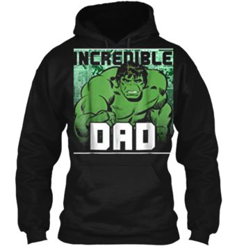 Marvel Hulk Father's Day Incredible Dad Graphic  Pullover Hoodie 8 oz