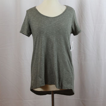 """LuLaRoe The Classic T Grey with fine black striped S """"CT-8"""""""
