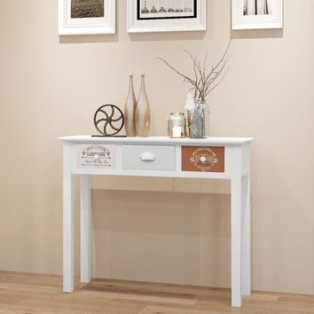 Shabby Chic French Console Table Wood