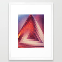 Triangled Too Framed Art Print by duckyb