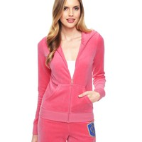 Logo Velour Juicy Laurel Crest Original Jacket by Juicy Couture,