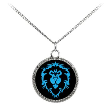 """World of Warcraft """"For the Alliance"""" Deco Coin Necklace"""