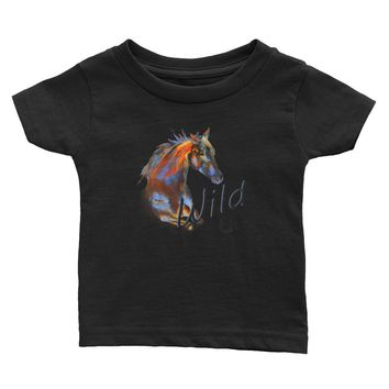 Wild Horse Infant T-shirt for your Cowgirl or cowboy on the ranch