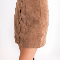 All About It Scalloped Skirt (Camel)