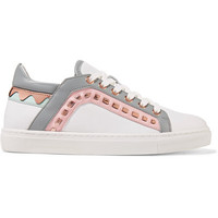 Sophia Webster - Riko metallic-trimmed leather sneakers