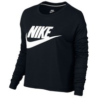 Nike Essential Long Sleeve Crop Top - Women's at Foot Locker