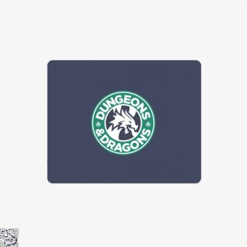Starbucks Parody Mashup, Dragon And Dungeon Mouse Pad