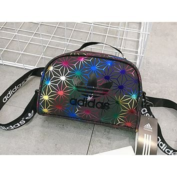 ADIDAS hot seller fashion lady casual gradient stitching tattoo single shoulder shopping bag #1