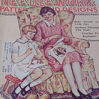 Exquisite Glorious Past Old Time NeedleWork Hobbies and Crafts Patterns Designs 1975 Magazine July Issue